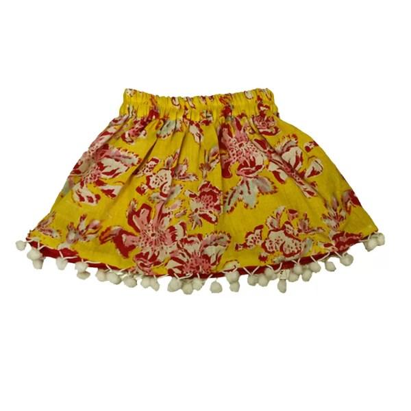 yellow reversible skirt
