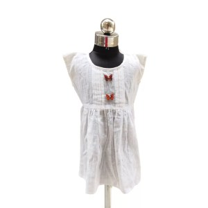 White frock with butterfly