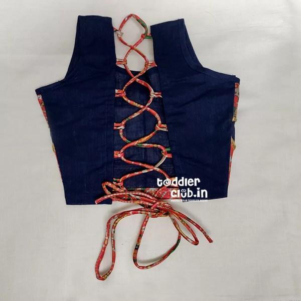 blue blouse back pattern