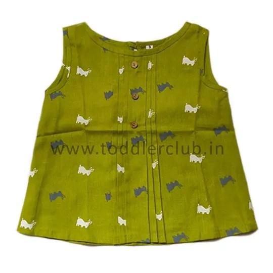 Kids Rabbit print Cotton Top