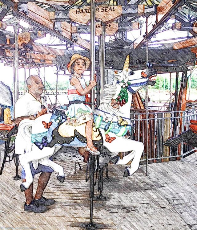 Pier 62 Carousel - unicorn