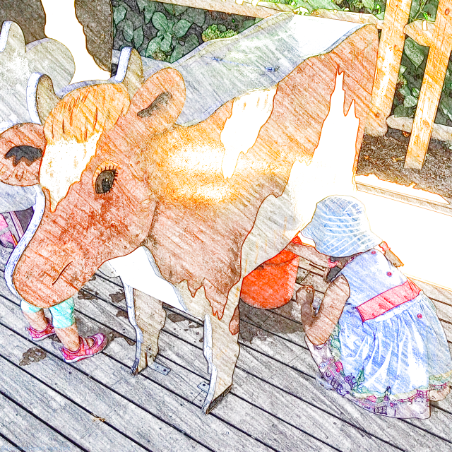 Prospect Park Zoo - milking