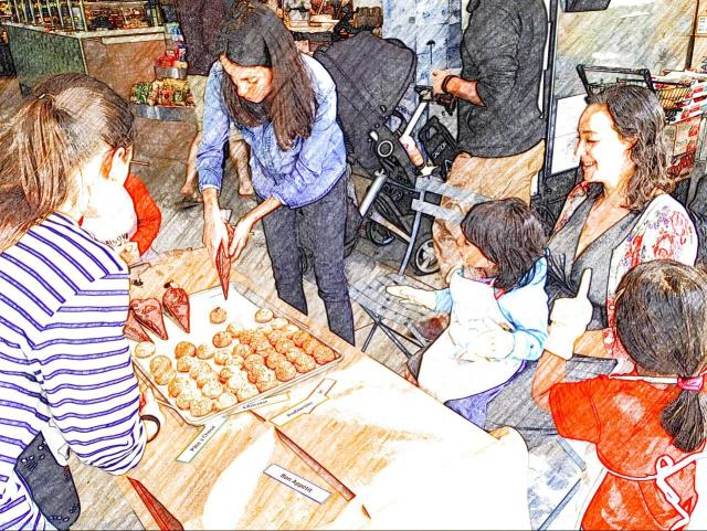 Battery Park - free kids' cooking class at Le District