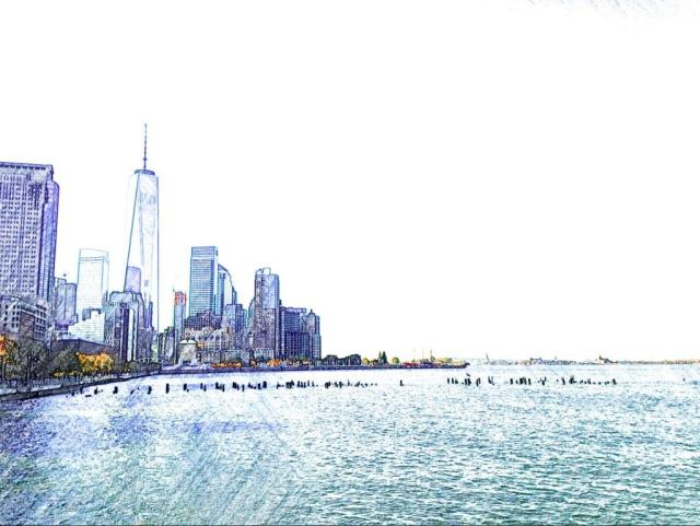 View from the Esplanade, Battery Park City
