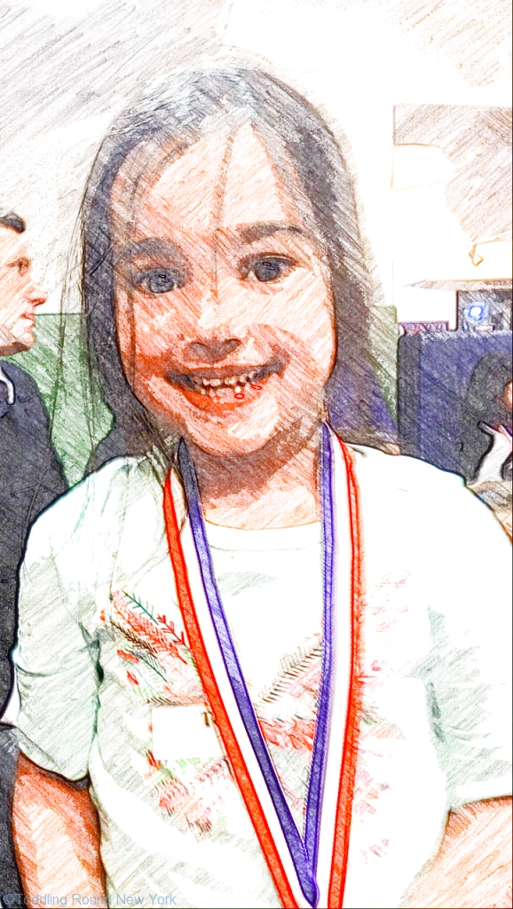 First gymnastics medal