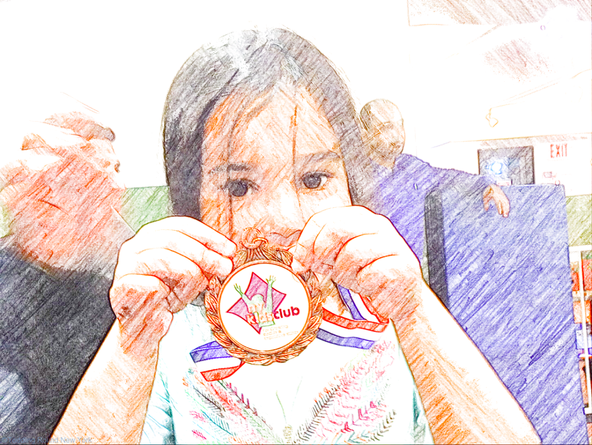 And this chocolate coin medal is awarded for…