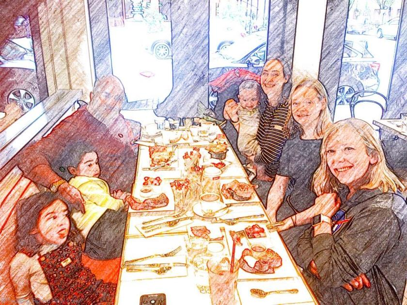 Brunch at Mayson Kayser with our friends, Tribeca