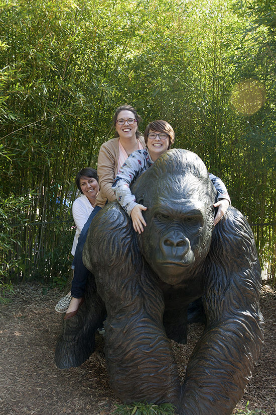 """My Three Girls and the Gorilla"" - Copyright 2013 Todd Littleton"