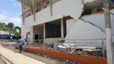 Exterior damage of Farmer's Market building in Bahia