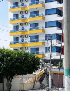 Hotel Patricio 47. Second tower was 5 floors and pancaked, falling onto 4 plex next door