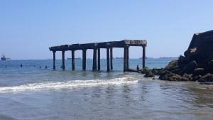 Old pier falling apart