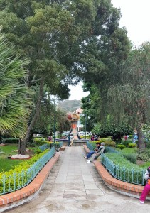 Path into park at town square