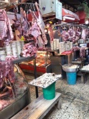 feria libre meat area