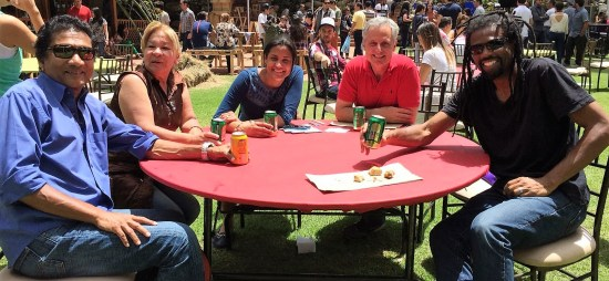 A nice afternoon enjoying good conversation. (L to R: Auro, Elada, Osnelly, Todd, Miguel)
