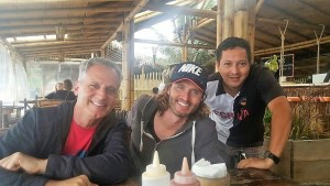 Todd, Chase, and Frank in Montanita