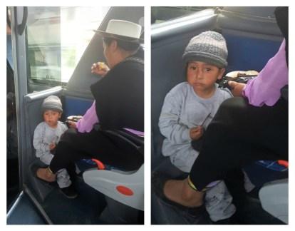 boy on bus to vilcabamba