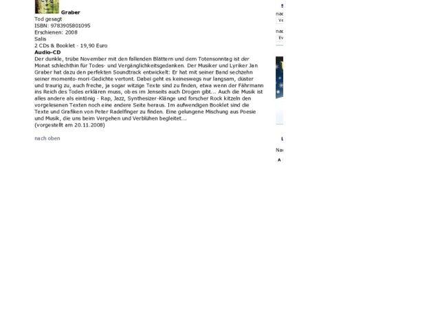 Lesetipp und Plattenbesprechung in der FAZ Online, 20. November 2008.