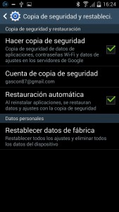 Resetear Samsung Galaxy
