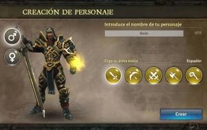 Dungeon Hunter V selección arma espadon Hombre