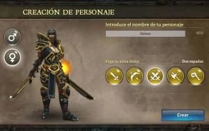 Dungeon Hunter V selección arma 2 espadas Hombre