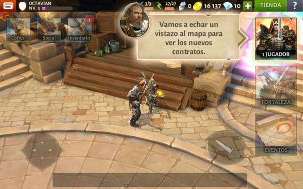 Dungeon Hunter V tutorial modo campaña