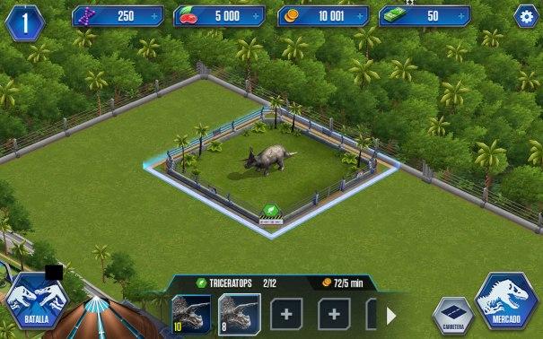 Jurassic World colocar jaula