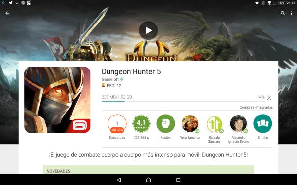Descarga la actualización Dungeon Hunter V