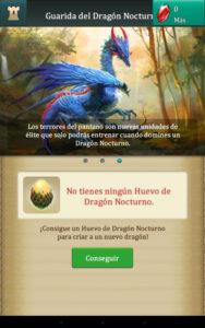 Dragons Of Atlantis conseguir Dragon Nocturno Adulto