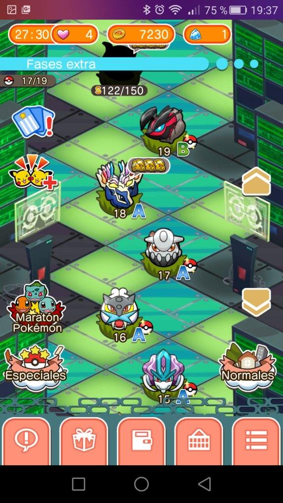 Pokémon Shuffle Fases extra