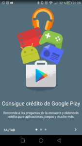Google Opinion Rewards credito google play gratis