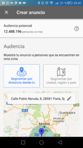 AdWords Express audiencia