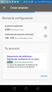 AdWords Express vista previa