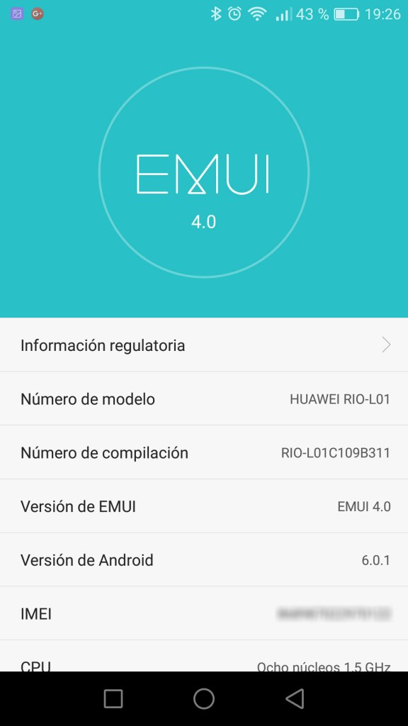 GX8 con Android 6.0.1 Marshmallow