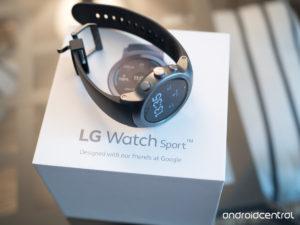 lg watch sport en caja