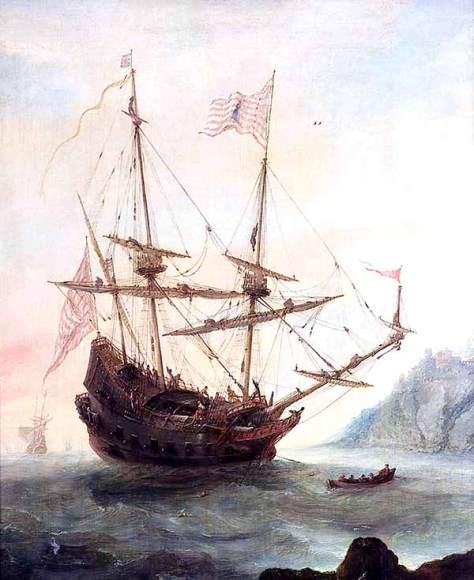 Galeón español de mediados del siglo XVII