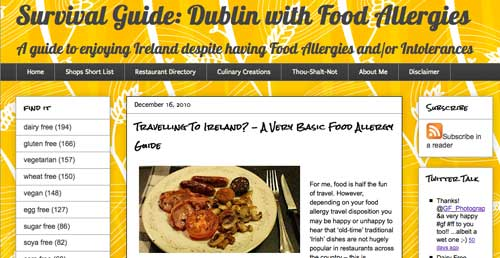 Dublin with food allergies