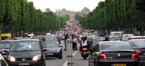Tráfico en París