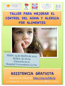 Taller sobre asma y alergia