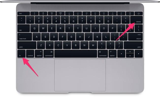 Alternativa tecla Suprimir Mac