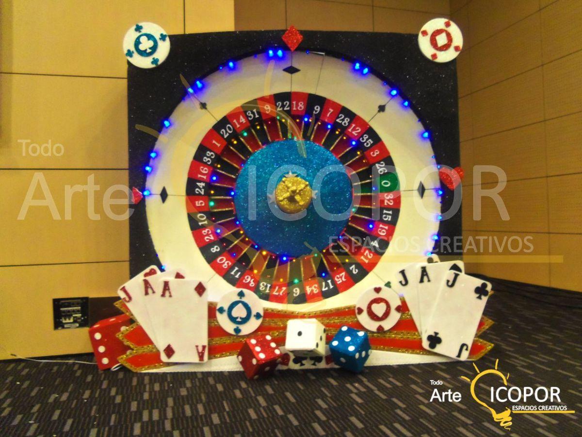 Decoración de fiesta temática casino