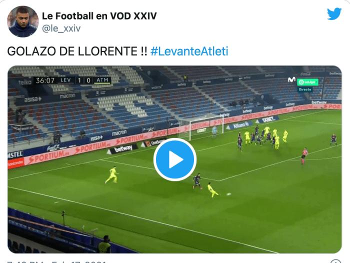 VIDEO: Así fue el gol de Llorente para empatar el partido