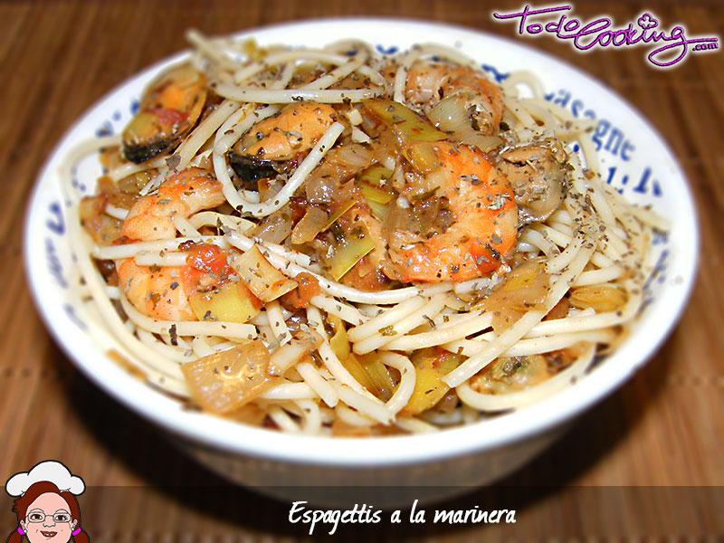 Espaguettis marinera