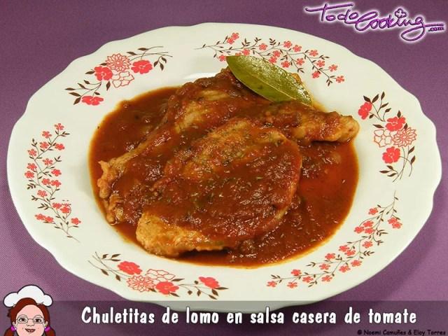 Chuletas cerdo en salsa de tomate