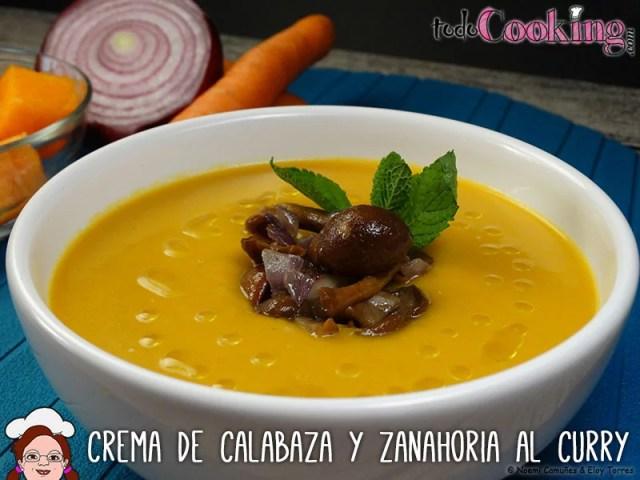 Crema de calabaza y zanahoria al curry - cremas de verduras