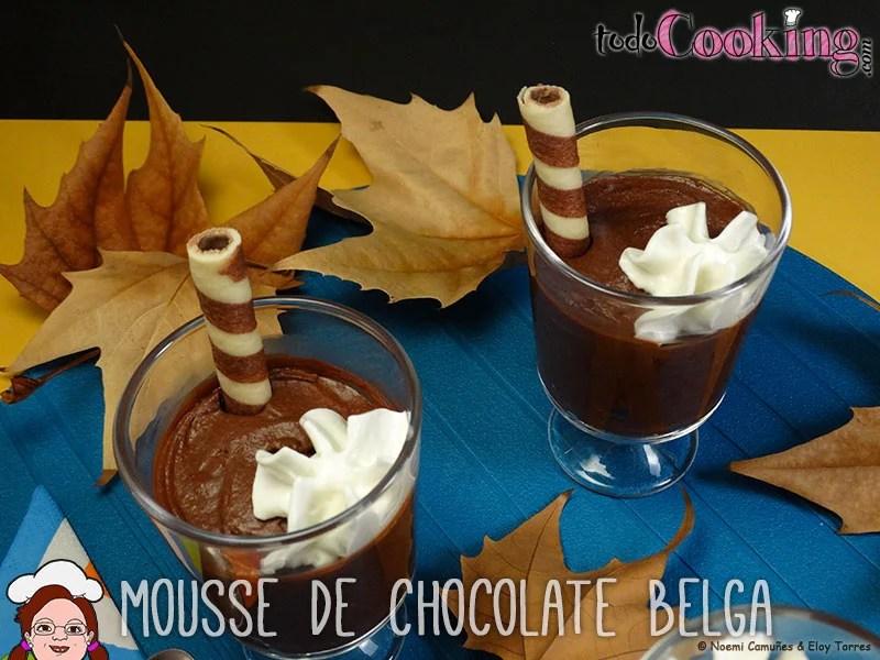 Mousse de chocolate negro belga