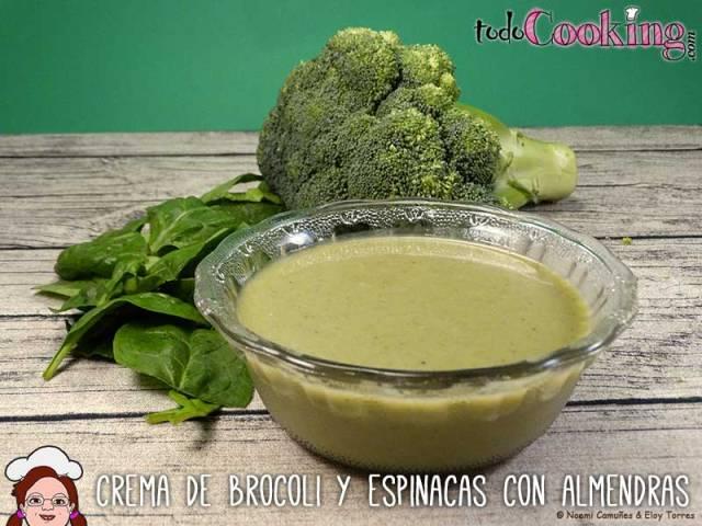 Crema-Brocoli-Espinacas-Almendras - Cremas de verduras
