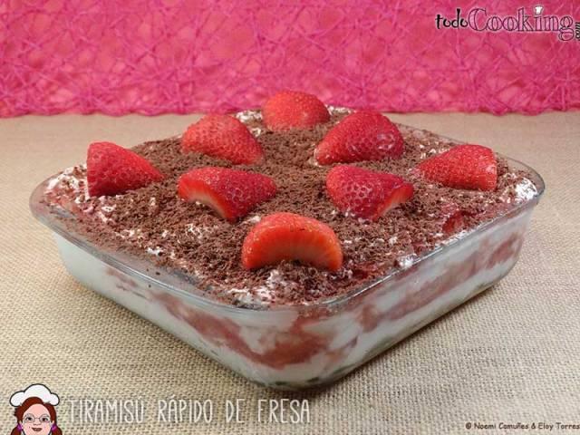 tiramisu rapido de fresas