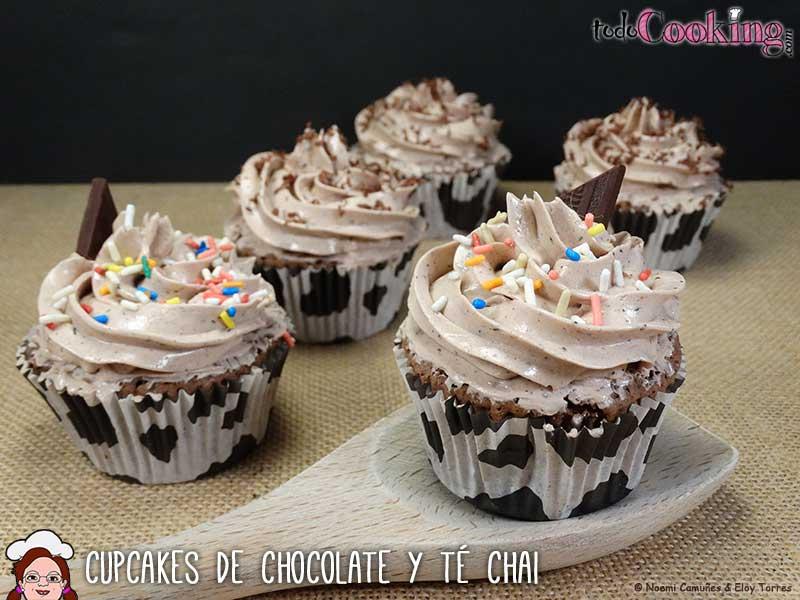 Cupcakes chocolate te chai