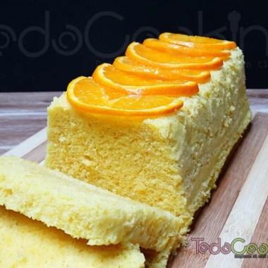 Bizcocho de naranja en el microondas