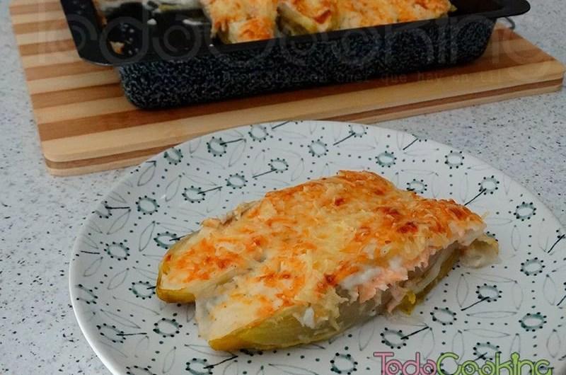 Endivias gratinadas con salmon